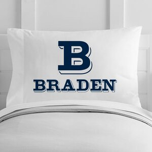 Personalized Block Letter and Name Toddler Pillow Case