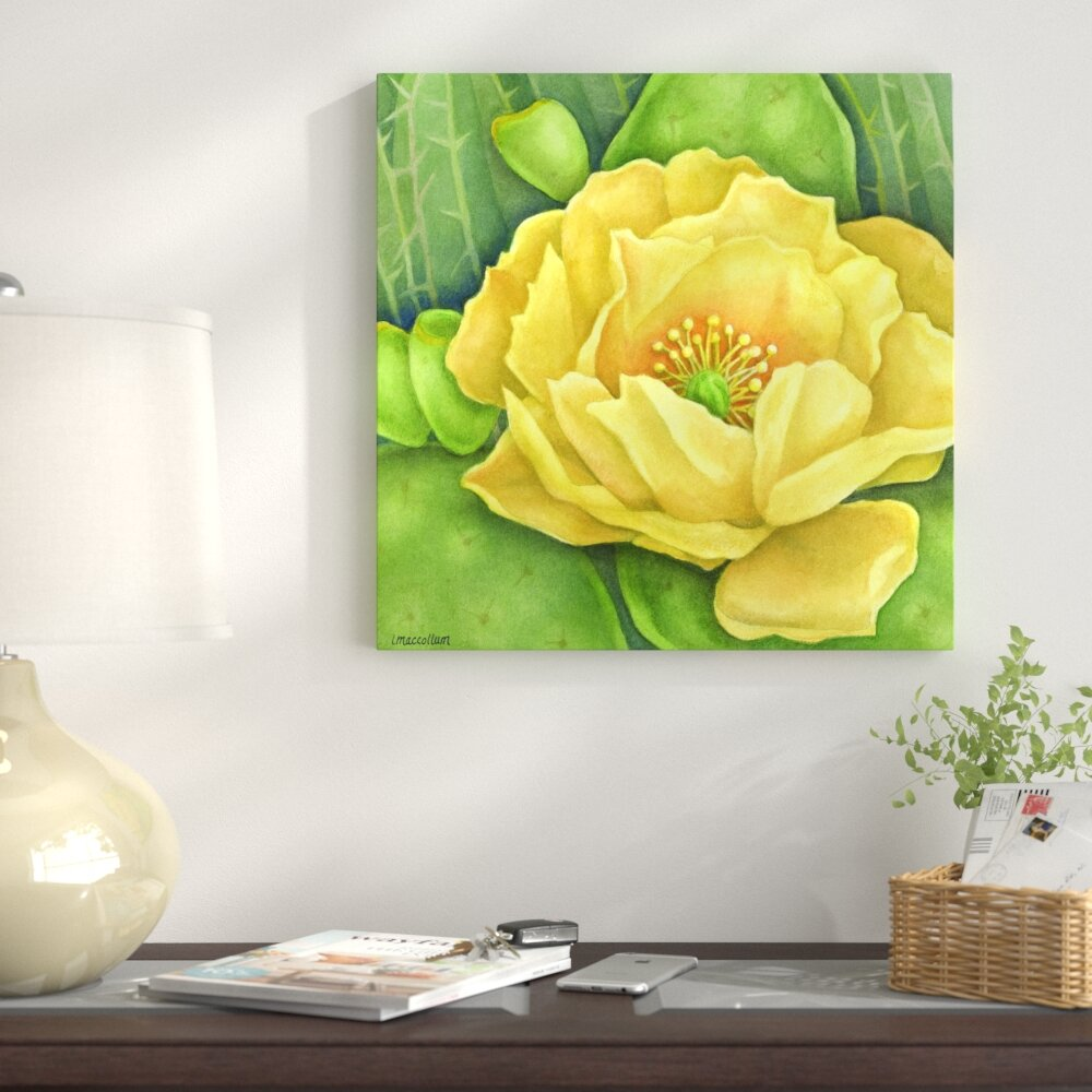 East Urban Home \'Cactus Flower\' by ThreeMacStudio Graphic Art Print ...