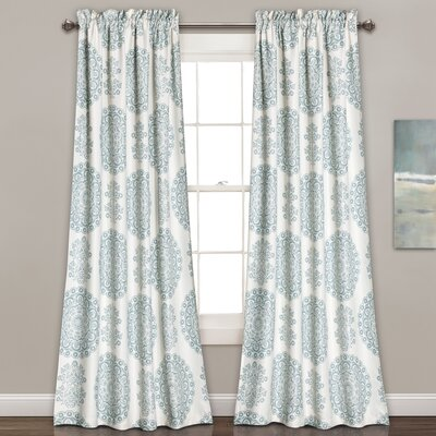 Heron Nature/Floral Room Darkening Rod Pocket Curtain Panels | Joss ...