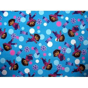 Compare prices Dora Mini Fitted Crib Sheet BySheetworld