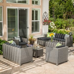 Adonis 9 Piece Deep Seating Group with Cushion