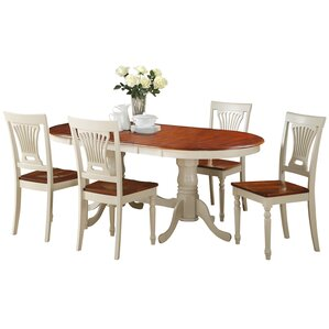 Doretha 5 Piece Dining Set with Dual Pedestal Table by Darby Home Co