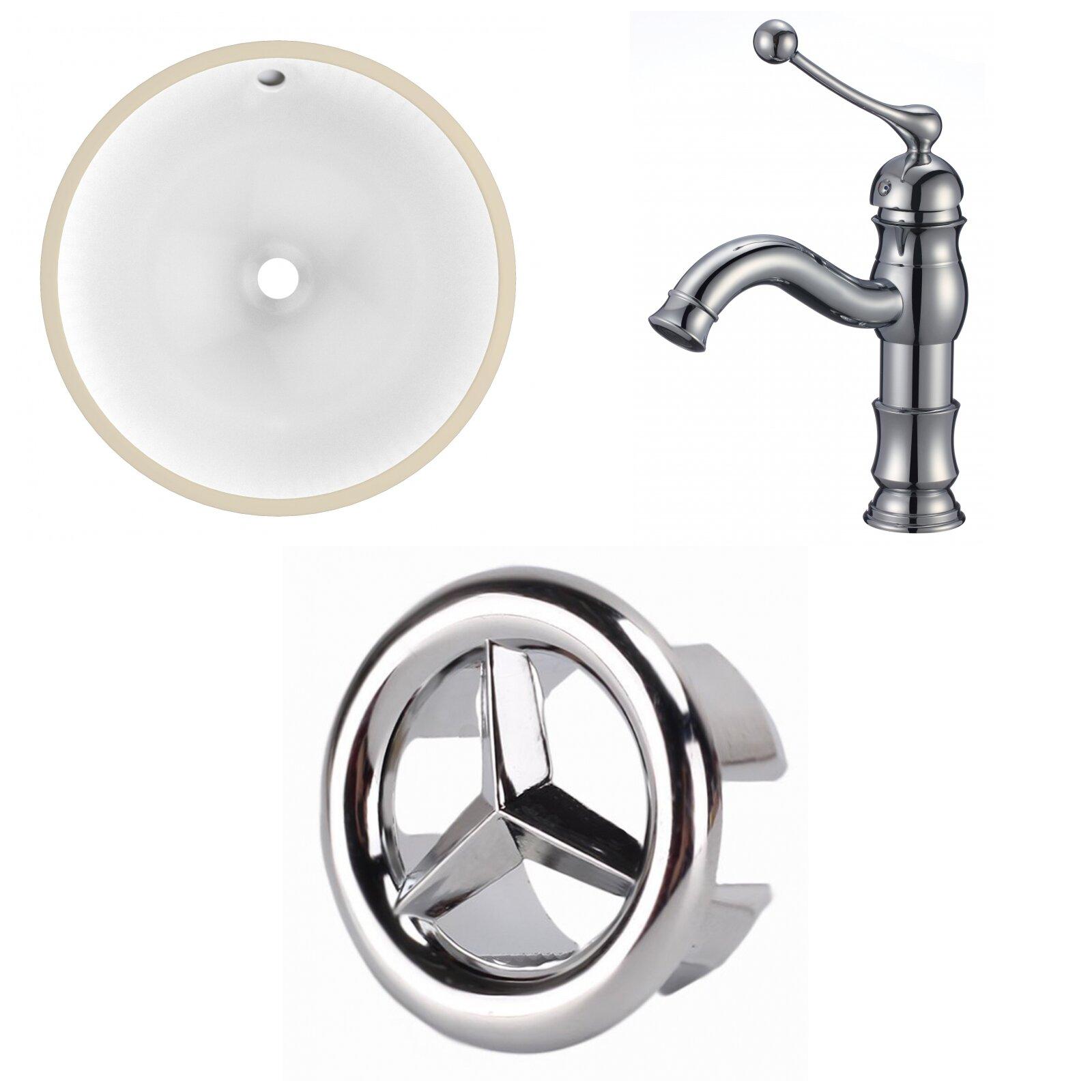 Avanities Ceramic Specialty Undermount Bathroom Sink With Faucet And Overflow Wayfair