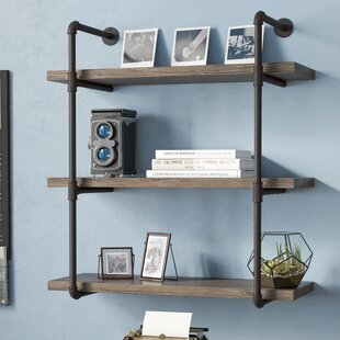 Kennard Simonne 3 Tier Industrial Pipe Wall Shelf by Greyleigh