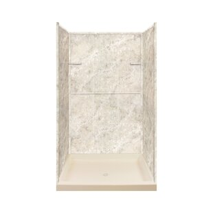 Affordable 72 H x 48 W x 34 D Three Panel Shower Wall By Transolid