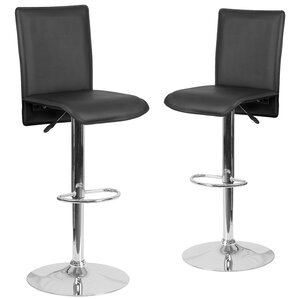Norby Adjustable Height Swivel Bar Stool (Set of 2) by Orren Ellis