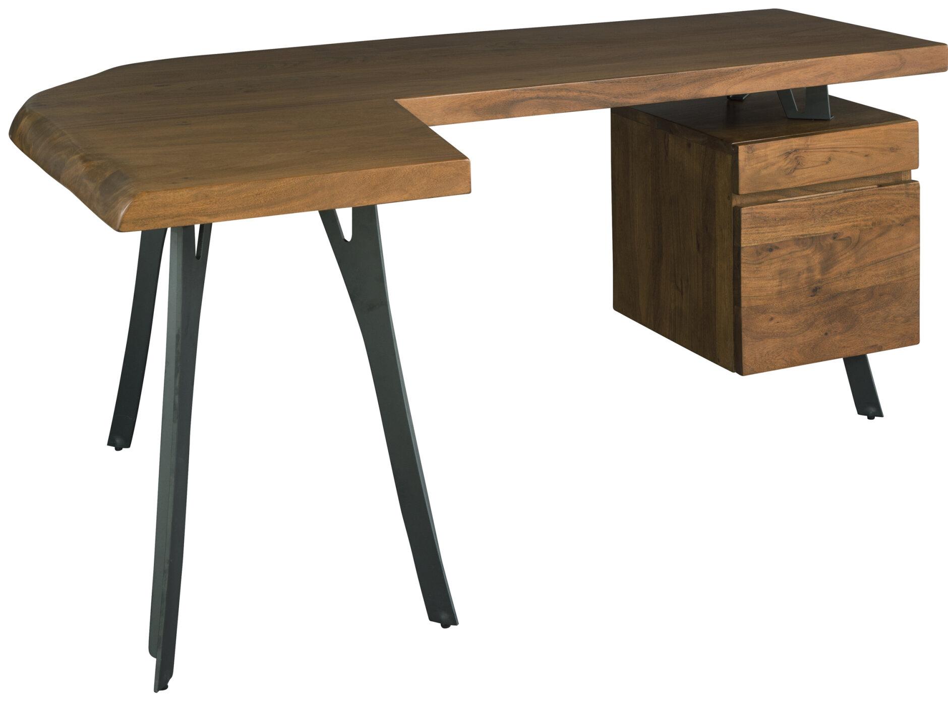 Wooden Cabinets Vintage Solid Wood L Shaped Desk