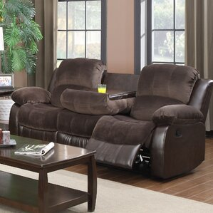 COCO Double Reclining Sofa with Drop Down Table by Glory Furniture