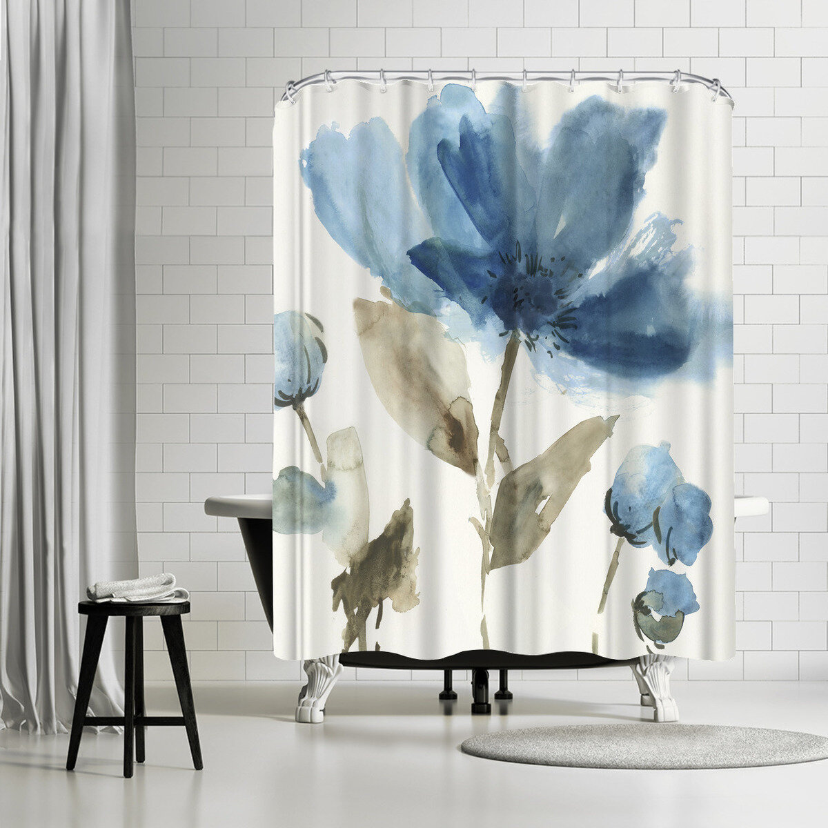 East Urban Home Pi Creative Art Morning Ii Single Shower Curtain Wayfair