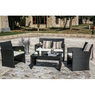 Franklin Square 4 Piece Sofa Set with Cushions