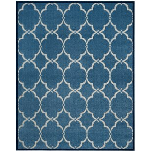 Bryan Blue/Cream Indoor/Outdoor Area Rug