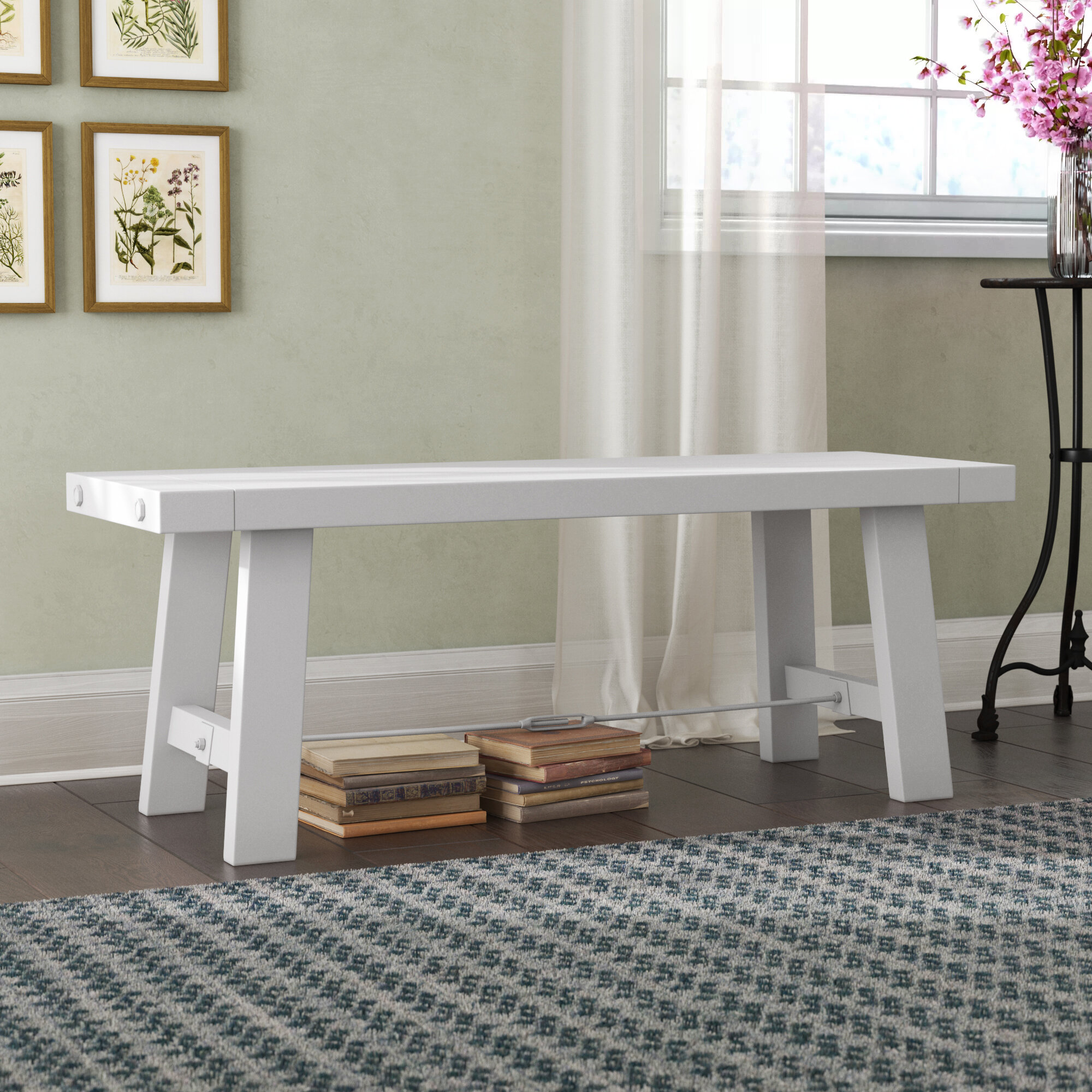 Stupendous Charest Wood Bench Machost Co Dining Chair Design Ideas Machostcouk