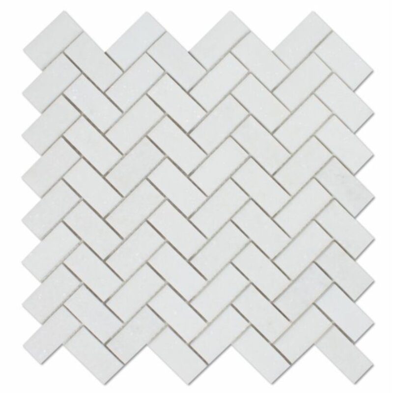 Tiles R Us Thassos 12 5 X 12 Marble Herringbone Mosaic Wall Floor Tile Wayfair