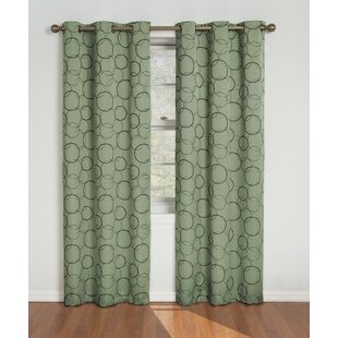 Kips Bay Geometric Blackout Thermal Grommet Single Curtain Panel by Wrought Studio
