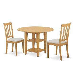 Tyshawn 3 Piece Drop Leaf Breakfast Nook Dining Set By Charlton Home
