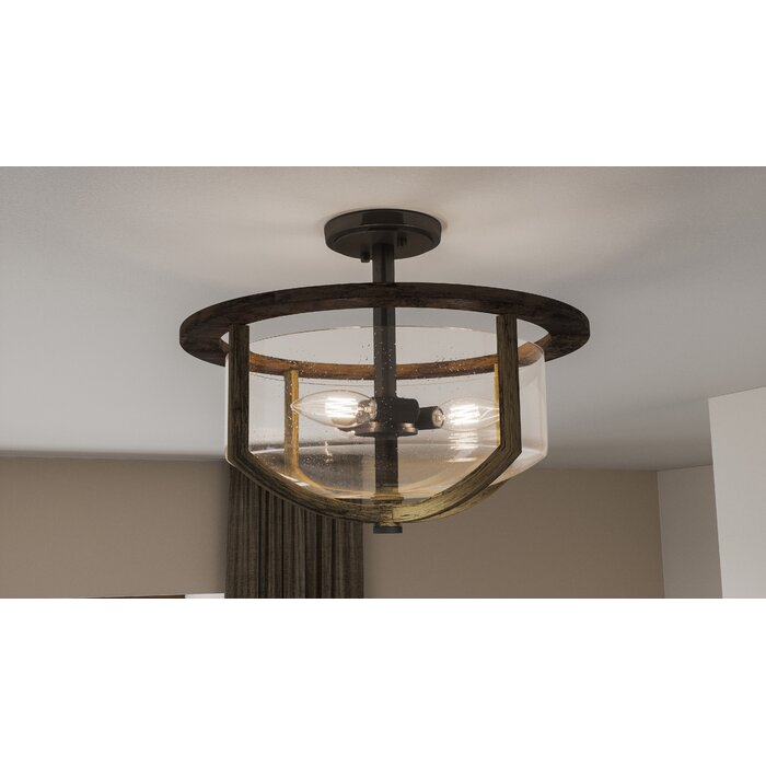 Jubilee 3 Light Semi Flush Mount