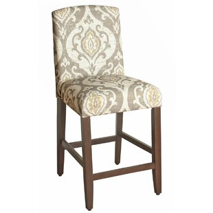 Clitheroe Fabric Upholstered Wooden Bar Stool by Alcott Hill