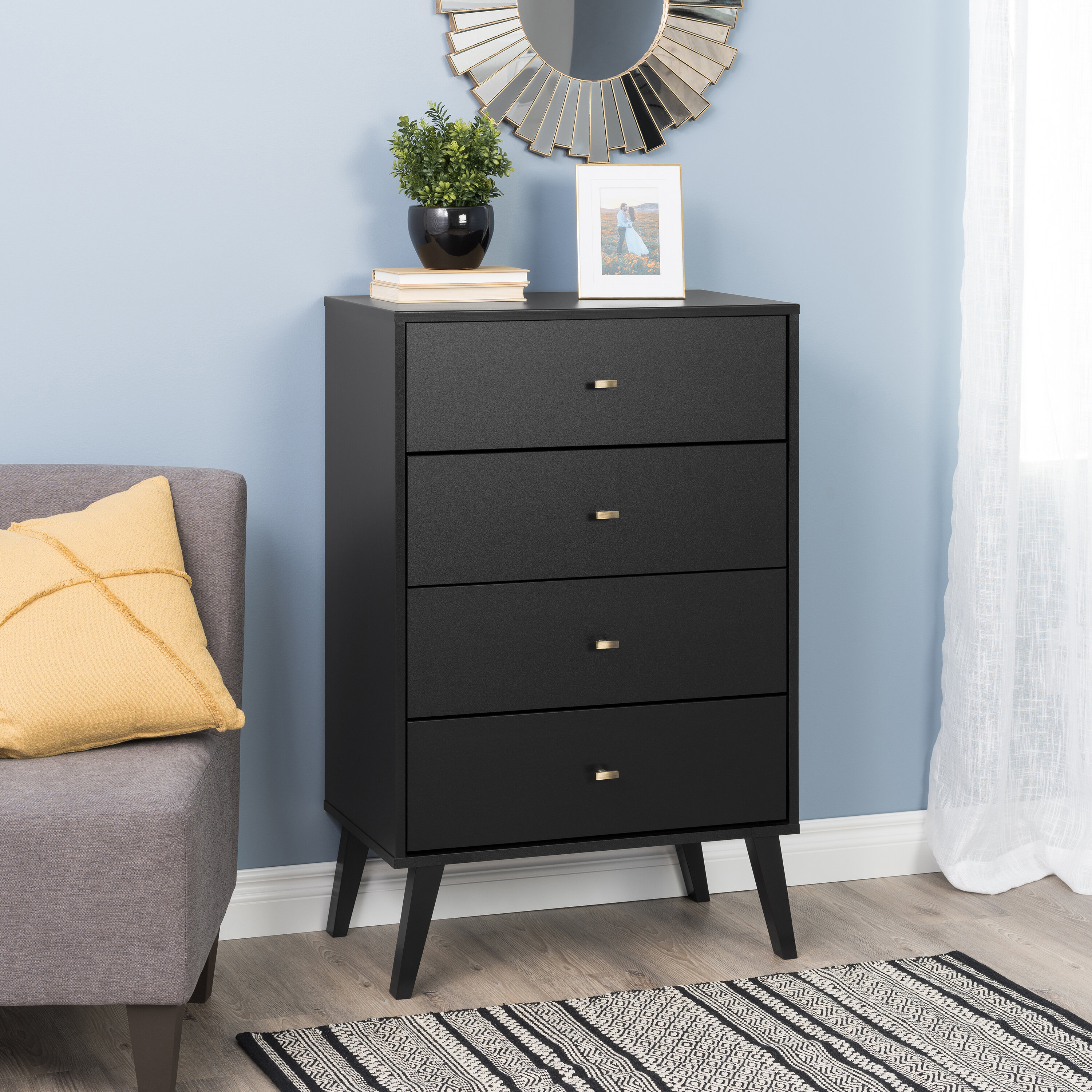 Image of: Black Mid Century Modern Dressers Chests You Ll Love In 2020 Wayfair