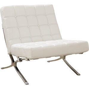 Modern Lounge Chairs AllModern - White leather lounge chair