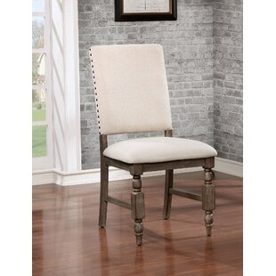 Krupa Rustic Upholstered Dining Chair (Set of 2)