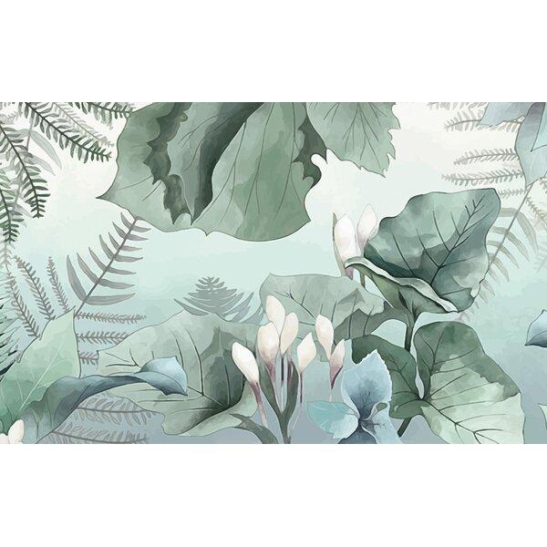 Bay Isle Home Elledge Leaf Tropical Jungle Drawing Wall Mural Wayfair