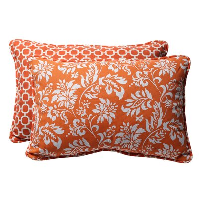 Pillow Perfect Reversible Outdoor Lumbar Pillow