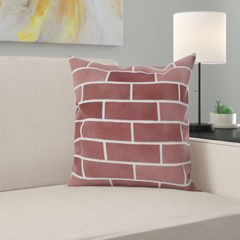 East Urban Home Brick Wall Throw Pillow Wayfair