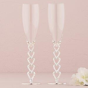 Wedding Toasting Flute Glass Set Of 2