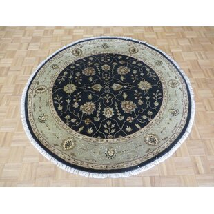 One-of-a-Kind Beane Hand-Knotted Wool Black Area Rug Isabelline