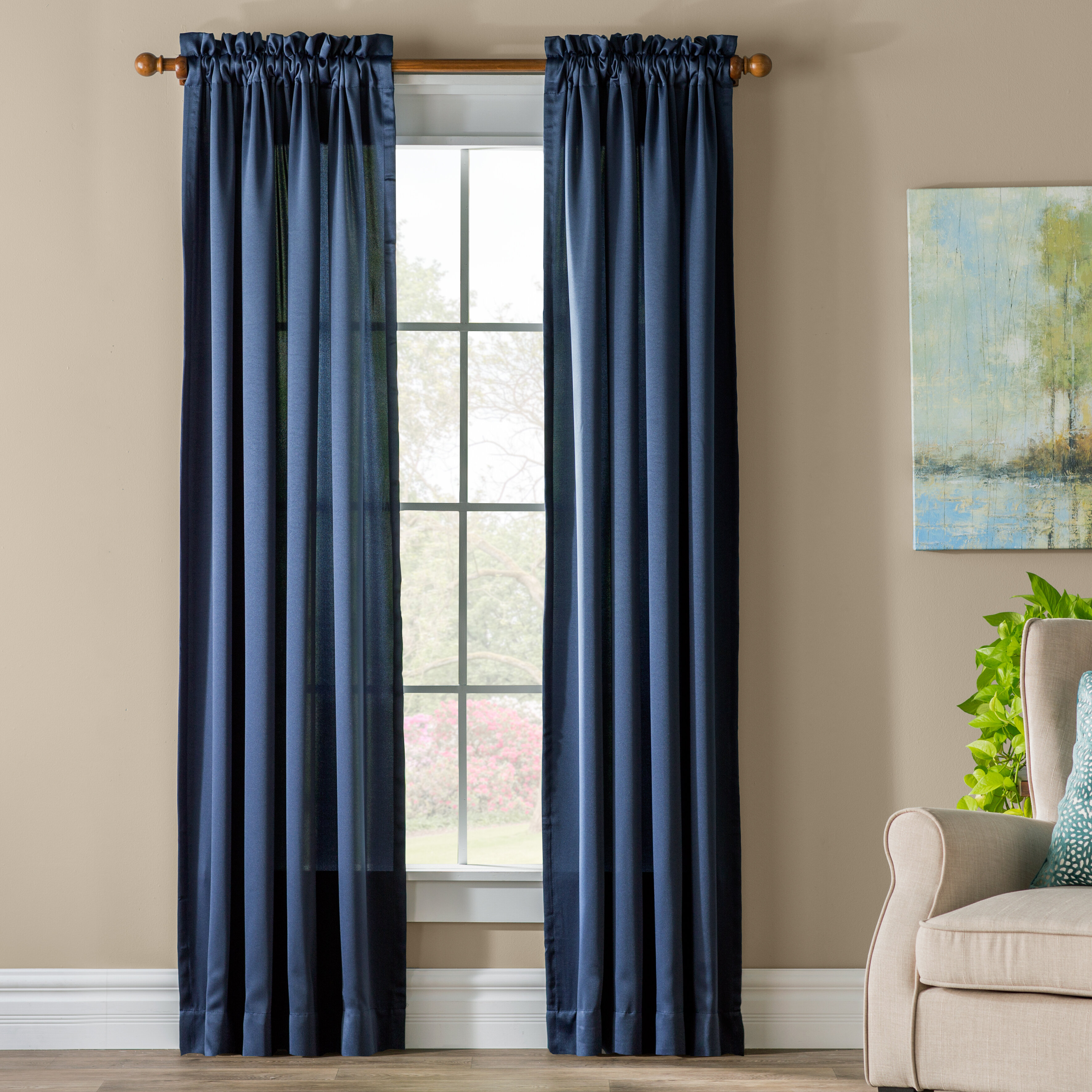 Grover Solid Semi Sheer Rod Pocket Single Curtain Panel Reviews Joss Main