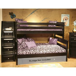 Shop For Petersen Twin Over Full Bunk Bed with Stairway Chest by Harriet Bee Reviews (2019) & Buyer's Guide