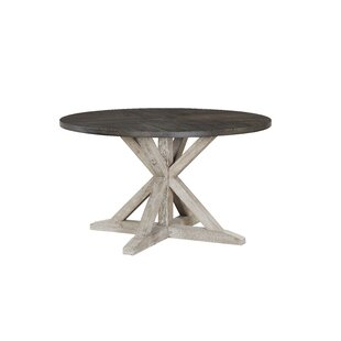 Kalista Round Dining Table, Distressed Brown