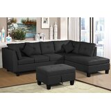 Stahl 105.1 Right Hand Facing Modular Sectional with Ottoman by Latitude Run®