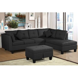 Stahl 1051 Right Hand Facing Modular Sectional with Ottoman by Latitude Run