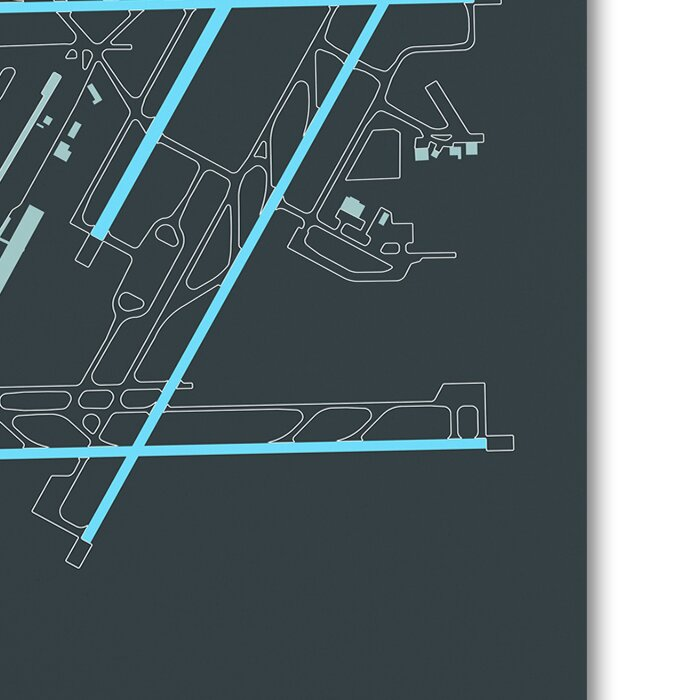 Trademark Art Dtw Airport Layout Graphic Art Print On Wrapped Canvas Wayfair
