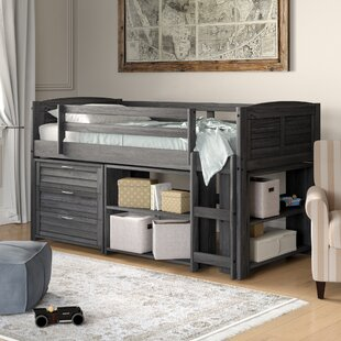 Evan Modern Twin Low Loft Bed with Storage by