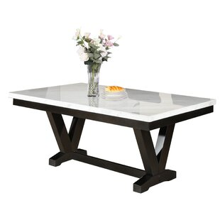 Cedric Marble Top Dining Table Red Barrel Studio