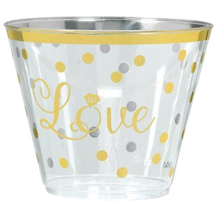 Sparkling Wedding 9oz Plastic Cup (Set of 30)  sc 1 st  Wayfair & Wedding Disposable Plates | Wayfair