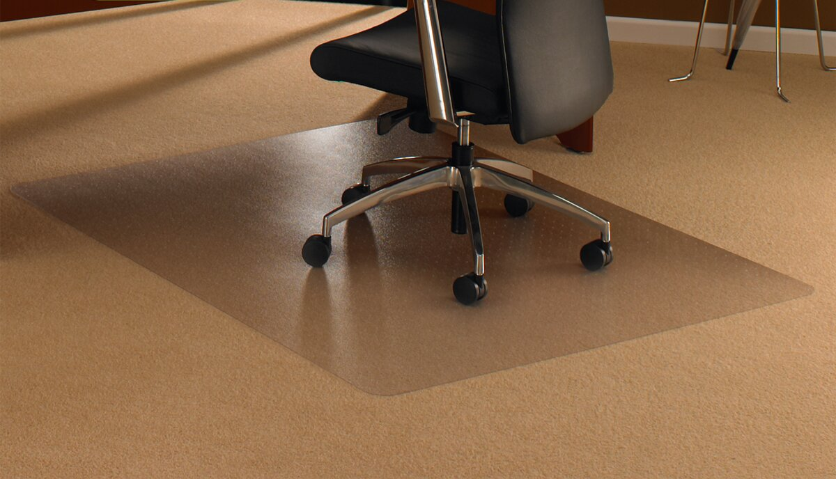 Great Cleartex High Pile Carpet Straight Chair Mat