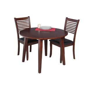Dinh 3 Piece Drop Leaf Solid Wood Dining Set Latitude Run