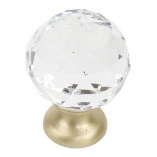 Glamour Transparent Faceted Crystal Knob