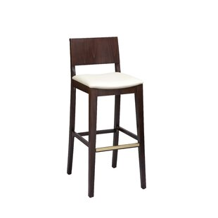 Otwell Beechwood Solid Back Upholstered Bar Stool