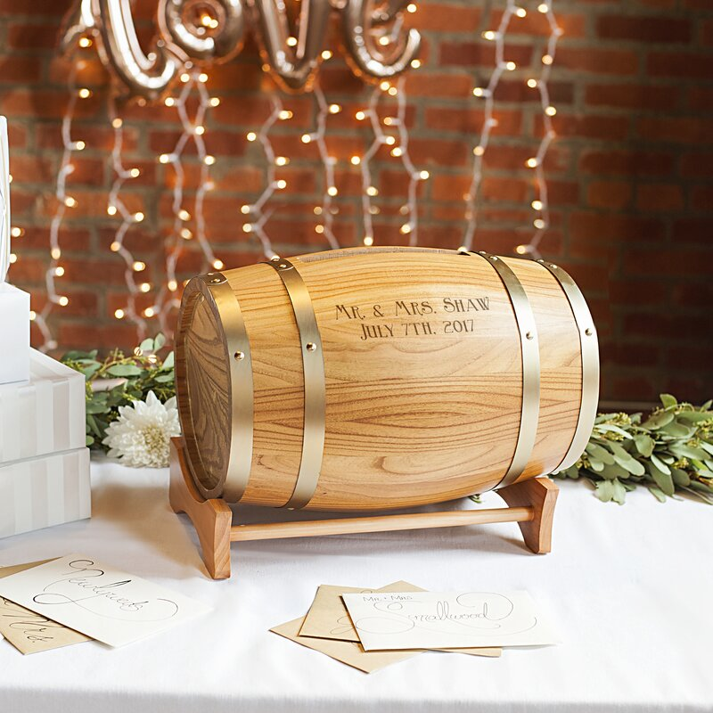 Cathys concepts personalized wine barrel reception gift card holder personalized wine barrel reception gift card holder negle Image collections