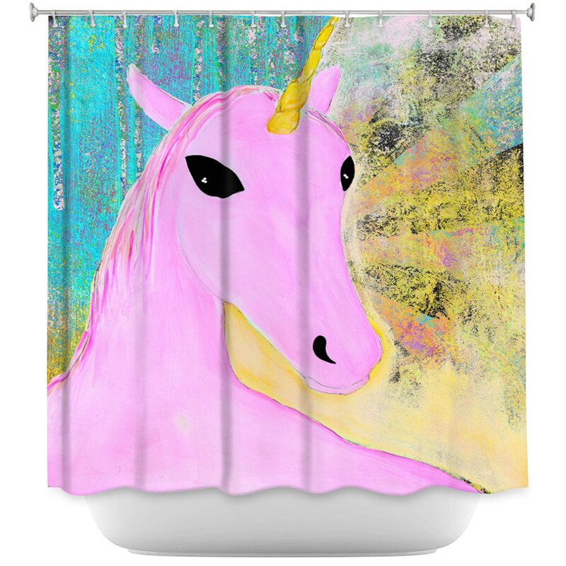 East Urban Home Unicorn Single Shower Curtain Wayfair