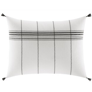 Alta Stripe and Stitching Cotton Lumbar Pillow