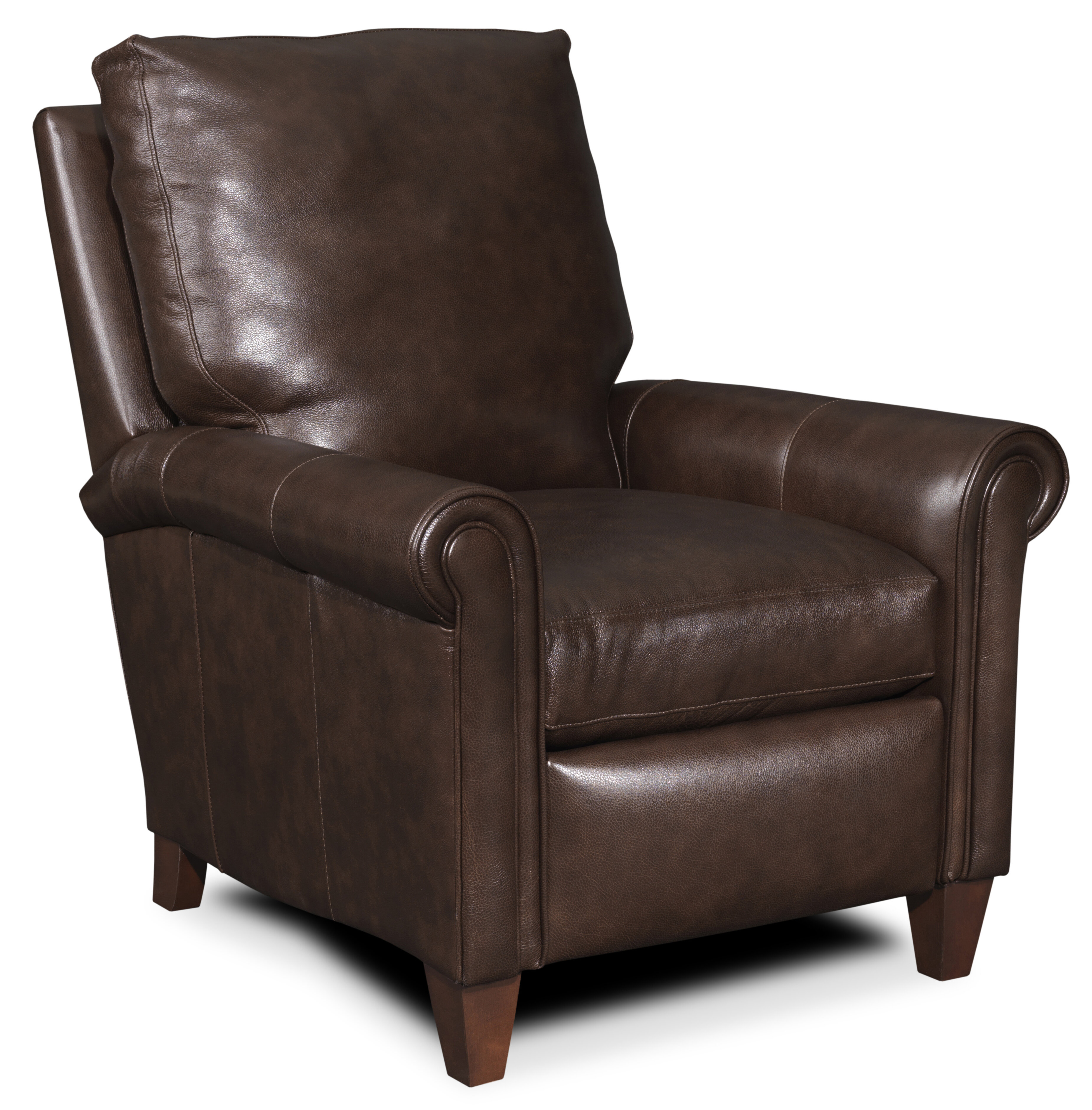 Haskins 3 Way Leather Manual Recliner. By Bradington Young