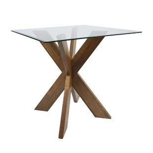 Barnhart X-Base Solid Wood Dining Table 2019 Coupon