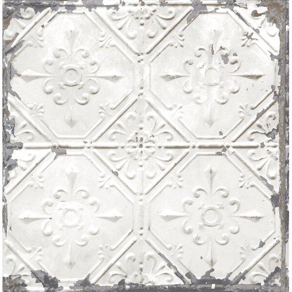 Brewster Home Fashions Tin Ceiling Distressed 33 X 20 5 Geometric Tile Wallpaper Reviews Wayfair