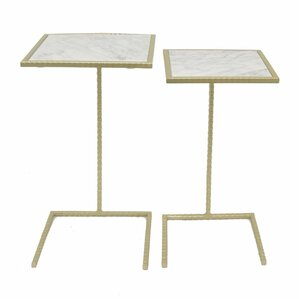 Avon Beautiful Metal 2 Piece Nesting Tables by Mercer41