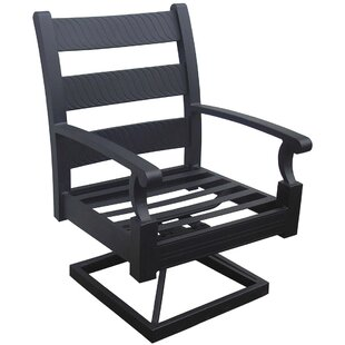 Manhattan Swivel Patio Dining Chair with Cushion (Set of 2)